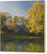 The Alexander Farm And Pond Wood Print
