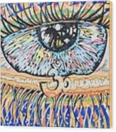 The All Seeing All Colourfull.... Wood Print