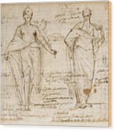 The Allegorical Figures Of Reason And Wisdom  Wood Print