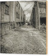 The Alley Wood Print