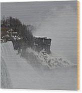 The American Falls Wood Print