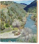 The American River Wood Print