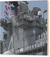 The Amphibious Assault Ship Uss Boxer Wood Print by Stocktrek Images