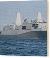The Amphibious Transport Dock Ship Uss Wood Print