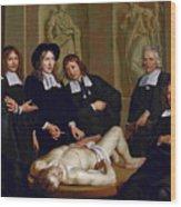 The Anatomical Lesson Of Professor Frederik Ruysc Wood Print