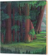 The Ancient Forest Wood Print