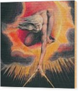 The Ancient Of Days Wood Print by William Blake