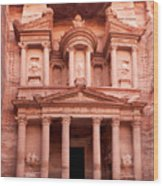 The Ancient Treasury Petra Wood Print