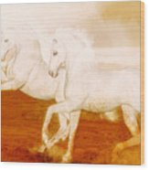 The Andalusians Wood Print