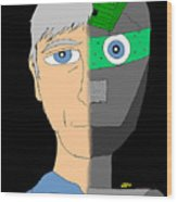 The Android- Douglas Kerrigan Wood Print