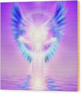 The Angel Of Divine Protection Wood Print