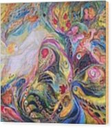 The Angel Of Flowers Wood Print