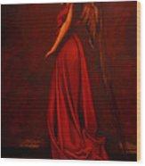 The Angel Of Love Wood Print