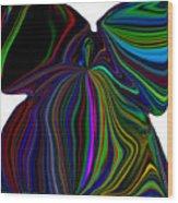 The Angel Of The Rainbow Wood Print