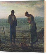 The Angelus Wood Print by Jean-Francois Millet