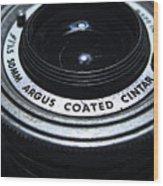 The Angle Of The Lens Wood Print