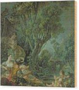 The Angler Wood Print