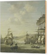 The Anglo Dutch Fleet In The Bay Of Algier Wood Print