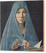 The Annunciation Wood Print by Antonello da Messina
