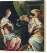 The Annunciation Wood Print by Giorgio Vasari