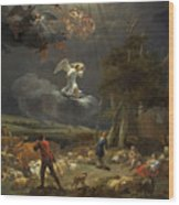The Annunciation To The Shepherds Wood Print
