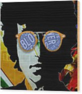 The Answer Is Blowin' In The Wind. Bob Dylan Wood Print
