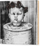 The Antique Doll's Head Wood Print