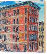 The Apartment Building Wood Print