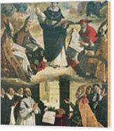 The Apotheosis Of Saint Thomas Aquinas Wood Print by Francisco de Zurbaran