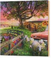 The Appalachian Farm Life In Beautiful Morning Light Wood Print