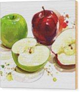 The Apple Focus Wood Print