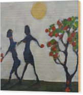 The Apple Thieves Wood Print