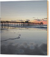 The Approaching Dawn - 32nd Street Pier Avalon Nj Wood Print