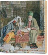 The Arab Scribe Cairo Wood Print