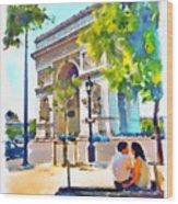 The Arc De Triomphe Paris Wood Print