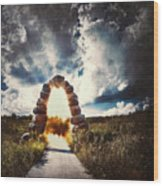 The Arch On The Edge Of Forever Wood Print