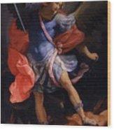 The Archangel Michael Defeating Satan 1635 Wood Print