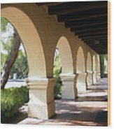 The Arches Mission Santa Ines Wood Print