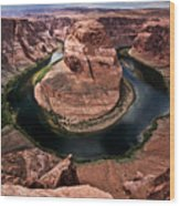 The Arizona Horsehoe Bend Of Colorado River Wood Print