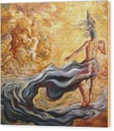 The Arrival Of The Goddess Of Consciousness Wood Print