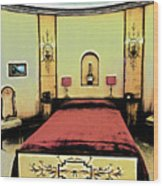 The Art Deco Bedroom Wood Print