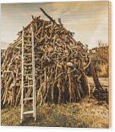 The Art Of Bonfires Wood Print