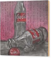 The Art Of Coca Cola Wood Print