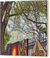 The Art Of Jackson Square Wood Print