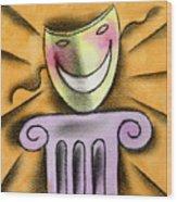 The Art Of Smiling Wood Print