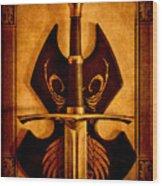 The Art Of War - Eternal Portrait Of A Warrior Wood Print