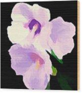 The Artful Hibiscus Wood Print