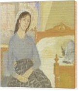 The Artist In Her Room In Paris Wood Print
