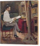 The Artist Morot In His Studio Wood Print