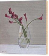 The Artists Life Wood Print by Linda Tenukas